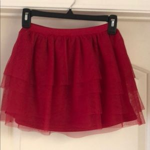 Red Tulle Skirt - Perfect for Holidays/Valentines